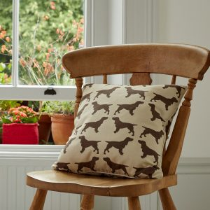 The Labrador Company-Brown Spaniel Cotton Cushion