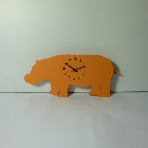 The Labrador Co.-Orange Hippo Clock with wagging tail - last one!