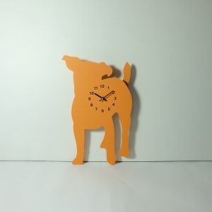 The Labrador Co.-Orange Jack Russell Clock with wagging tail - last one!