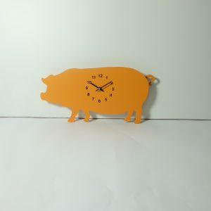 The Labrador Co.-Orange Pig Clock with wagging tail - last one!