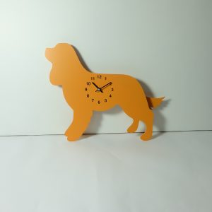 The Labrador Co.-Orange King Charles Spaniel Clock with wagging tail - last one!