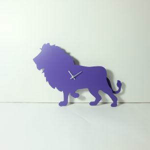 The Labrador Co.-Purple Lion Clock with wagging tail - last one!