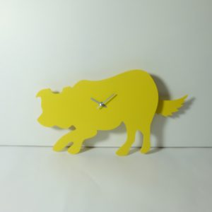The Labrador Co.-Yellow Border Collie Clock with wagging tail - last one!