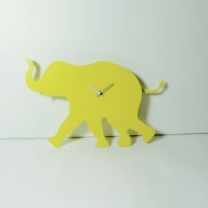 The Labrador Co.-Yellow Elephant Clock with wagging tail - last one!