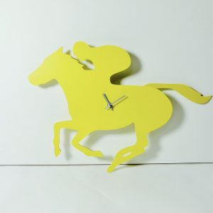 The Labrador Co.-Yellow racehorse clock with wagging tail - last one!
