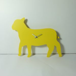 The Labrador Co.-Yellow Sheep/Lamb Clock with wagging tail - last one!