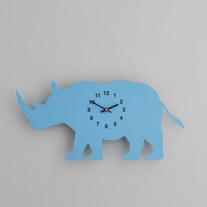 The Labrador Co.-Blue Rhino Clock with wagging tail - last one! 1