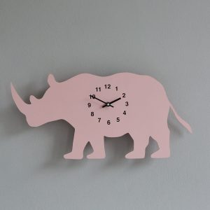 The Labrador Co.-Pink Lurcher Clock with wagging tail - last one! (Copy)