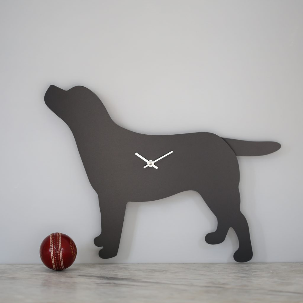The Labrador Co.-Labrador Clock - Black 20