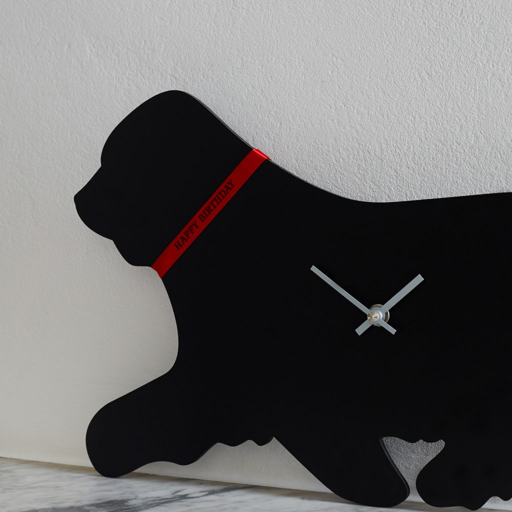 The Labrador Company-Bearded Collie Clock 1
