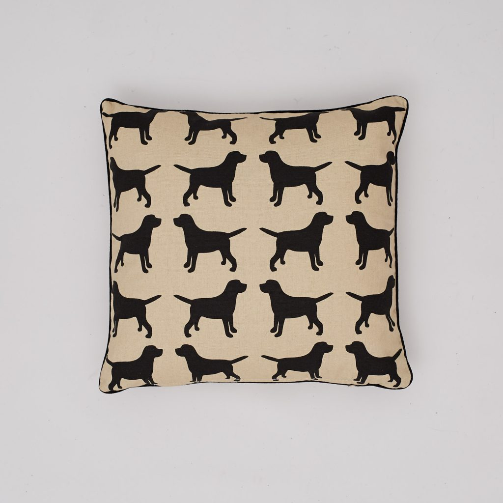 The Labrador Company-Black Labrador Cotton Cushion 1