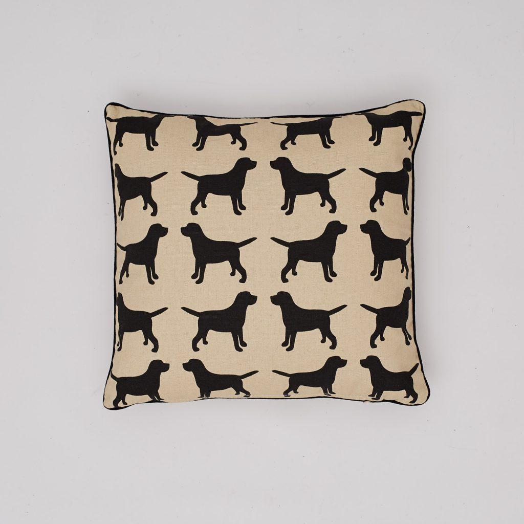 The Labrador Company-Black Labrador Cotton Cushion 1