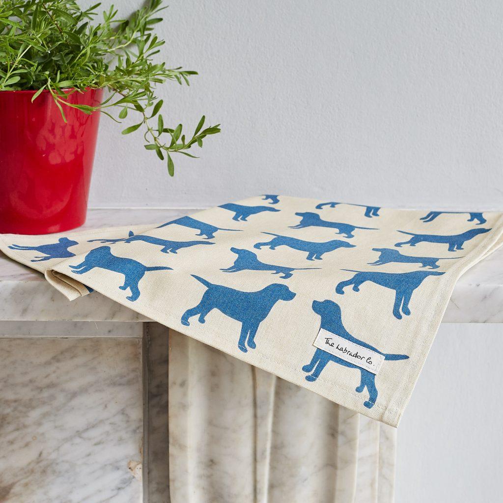 The Labrador Company-Black Labrador Print Tea Towel 9
