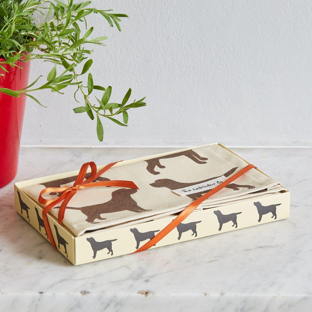 The Labrador Company-Black Labrador Print Tea Towel 4