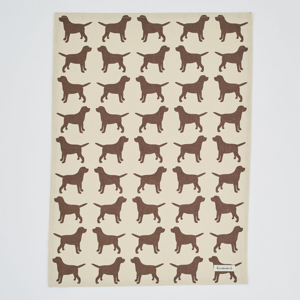 The Labrador Company-Black Labrador Print Tea Towel 6