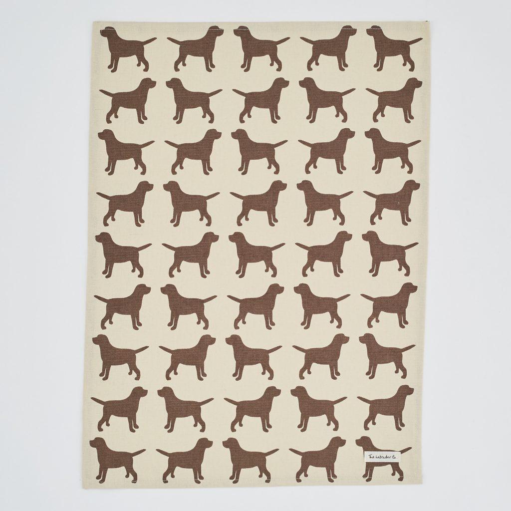 The Labrador Company-Black Labrador Print Tea Towel 6