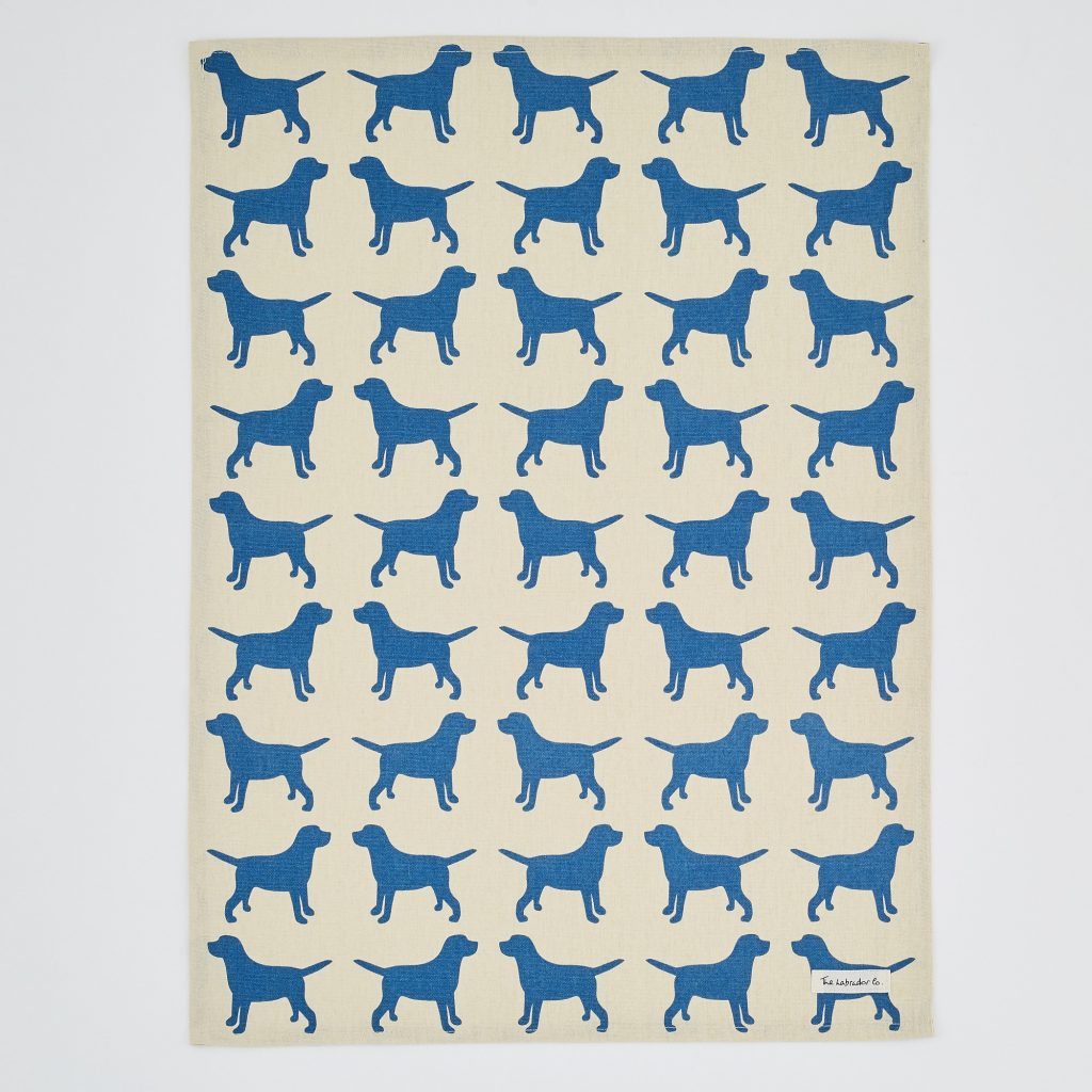 The Labrador Company-Black Labrador Print Tea Towel 8