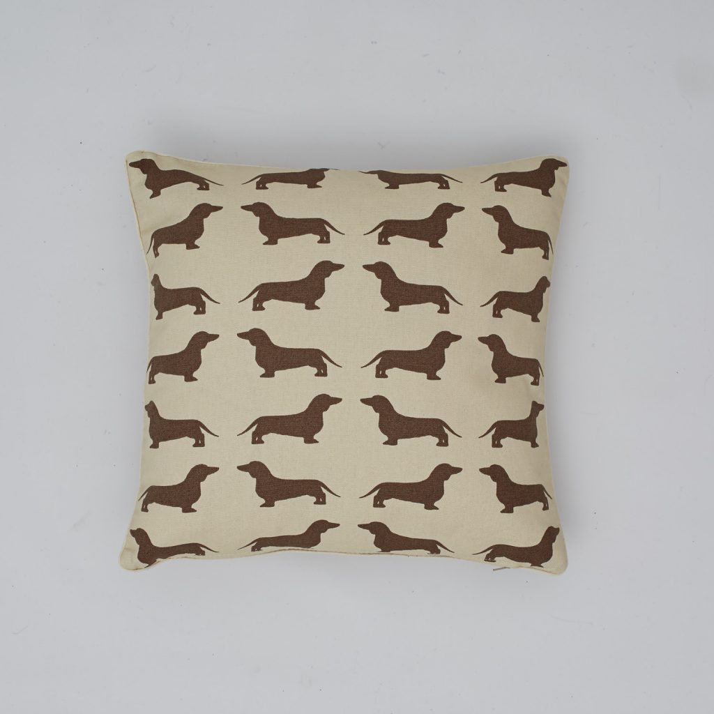 The Labrador Company-Brown Dachshund Cotton Cushion 1