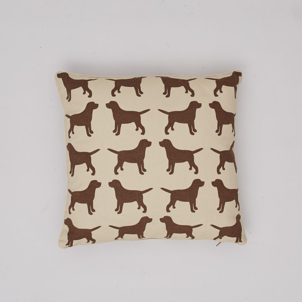 The Labrador Company-Brown Labrador Cotton Cushion 1