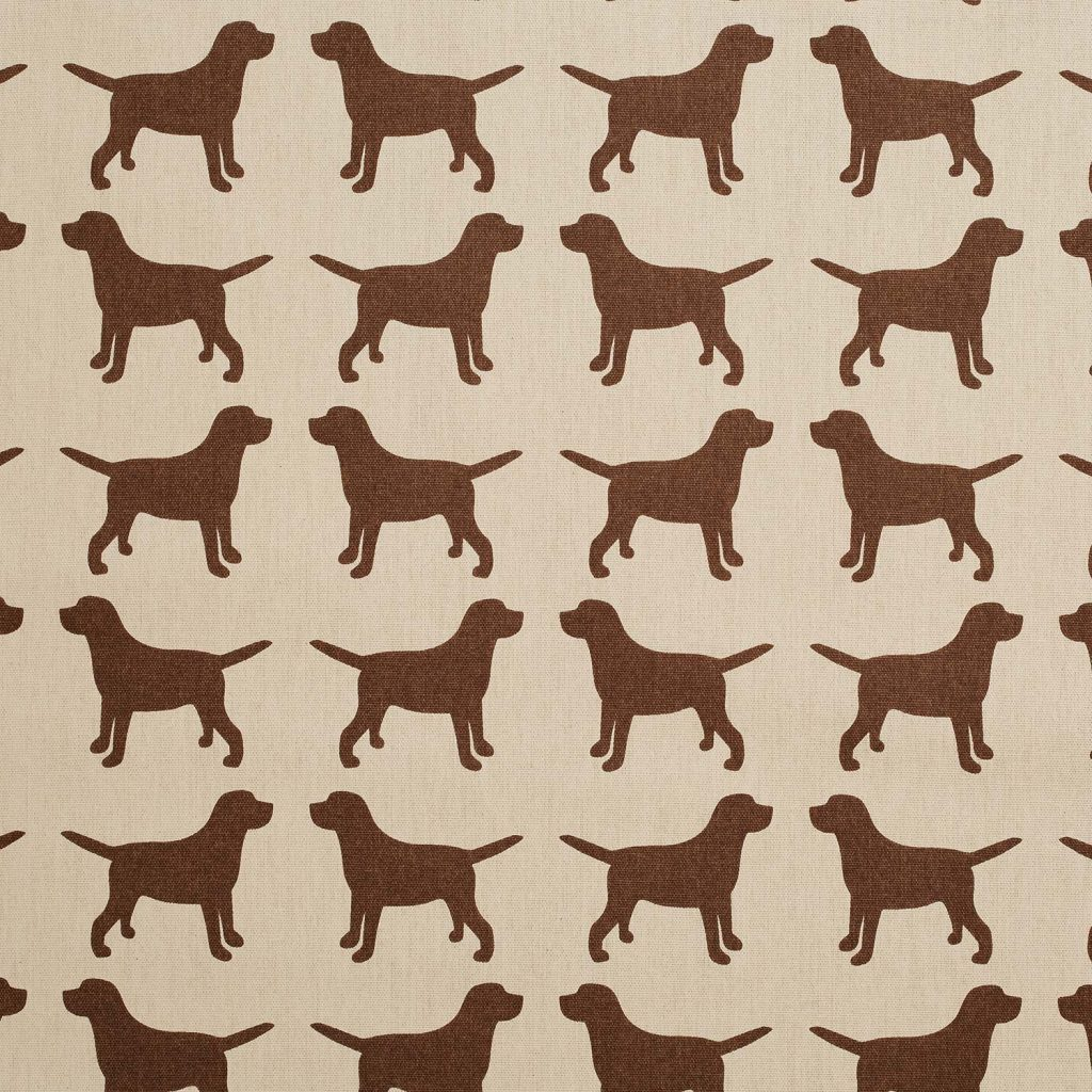 The Labrador Company-Brown Printed Labrador Cotton Drill Fabric 1