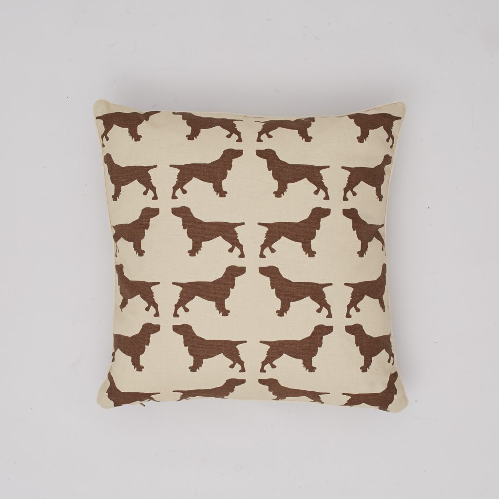 The Labrador Company-Brown Spaniel Cotton Cushion 1