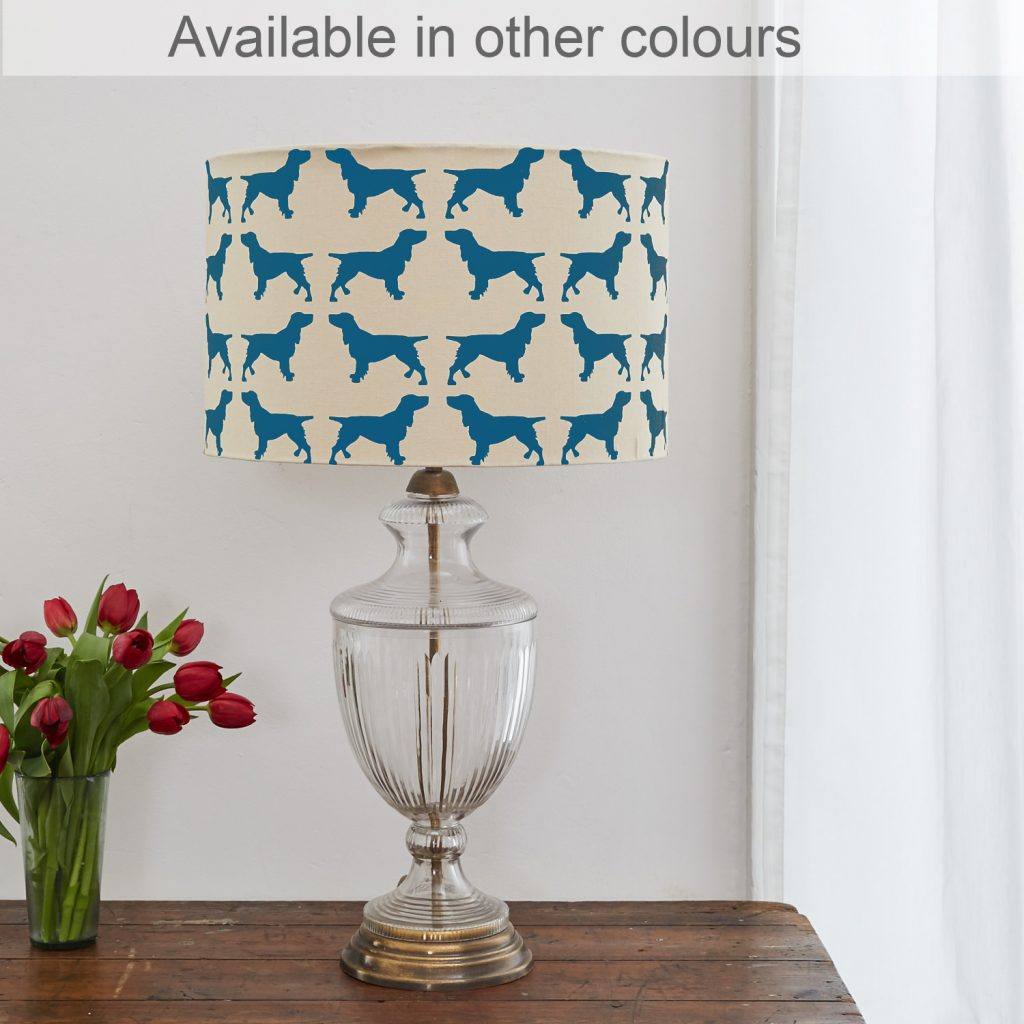 The Labrador Company-Spaniel Lampshade Large