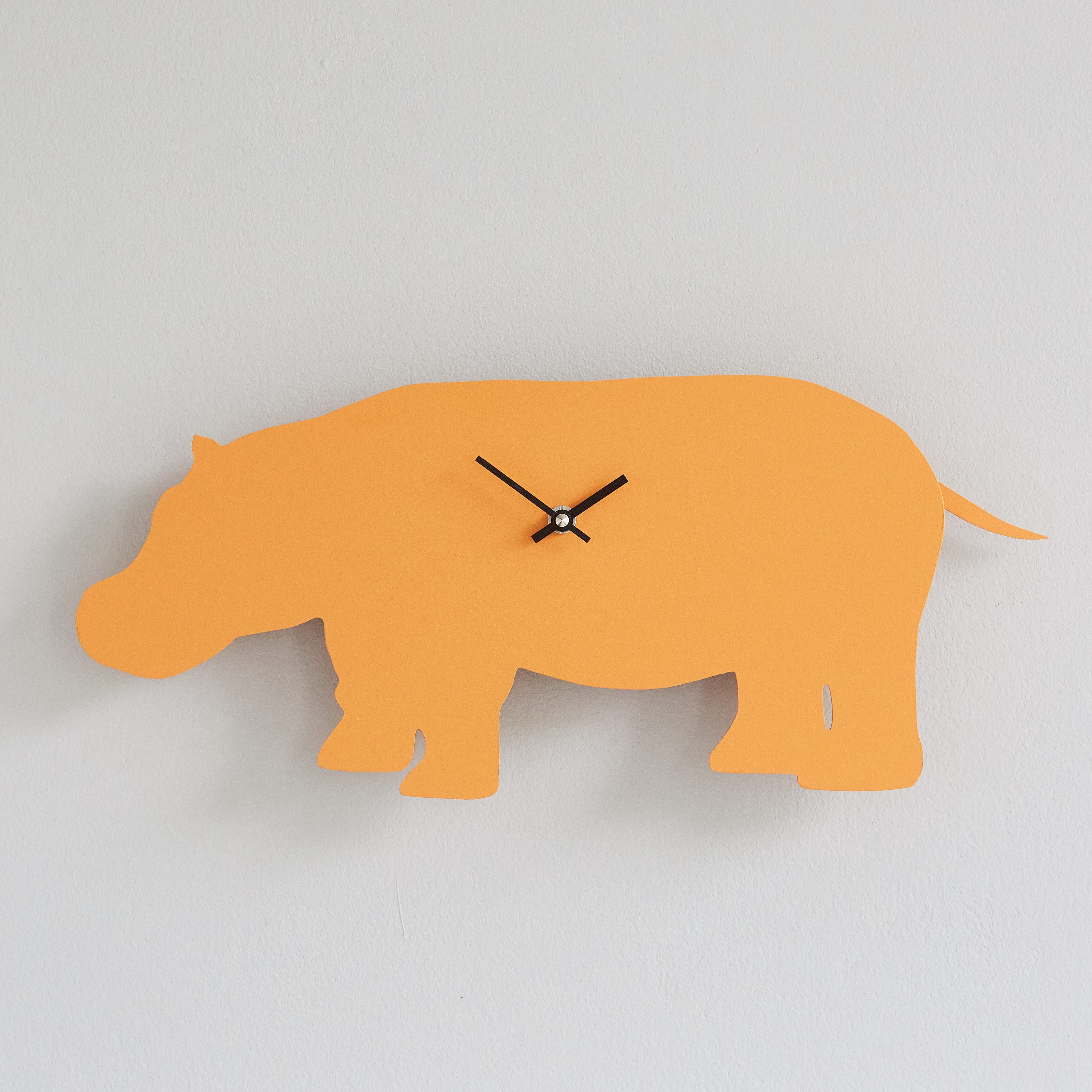 Orange Hippo Clock with Wagging Tail - Last one!
