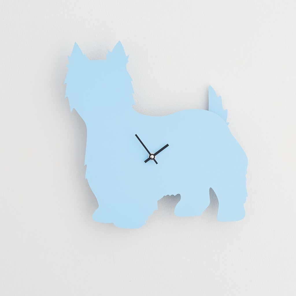The Labrador Co.-Blue Westie  Clock with wagging tail - last one!