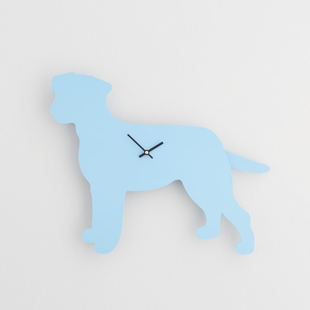 The Labrador Co.-Blue Border Terrier Clock with wagging tail - last one!