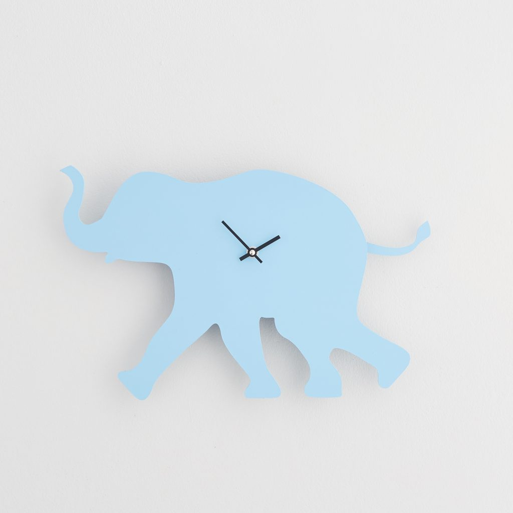 The Labrador Co.-Blue Elephant  Clock with wagging tail - last one!