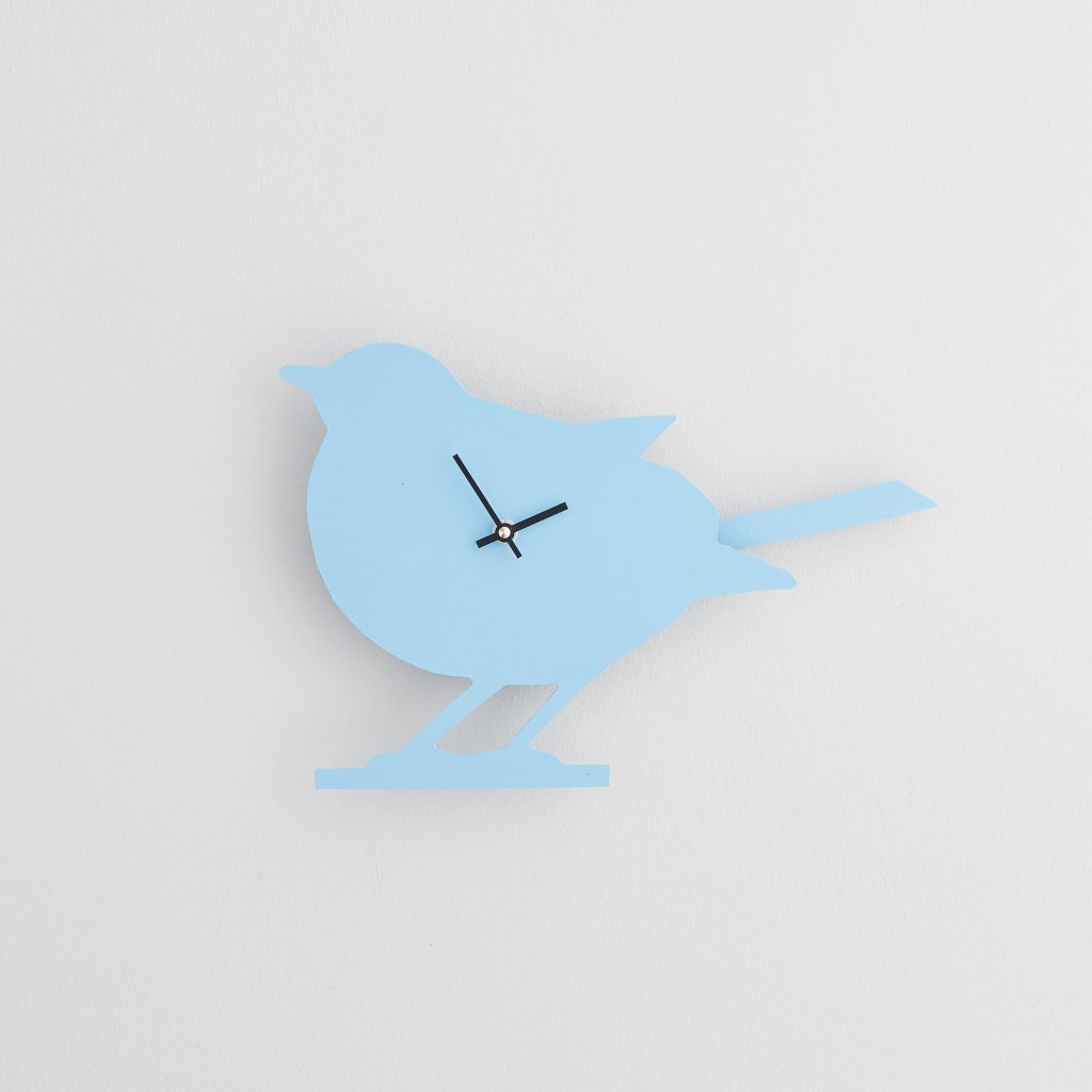 The Labrador Co.-Blue Robin Clock with wagging tail - last one!