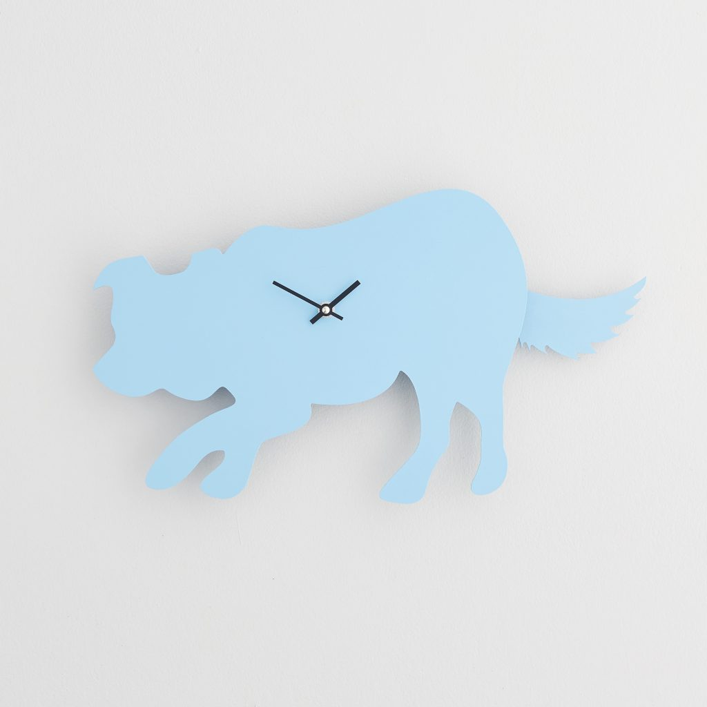 The Labrador Co.-Blue Border Collie Clock with wagging tail - last one!