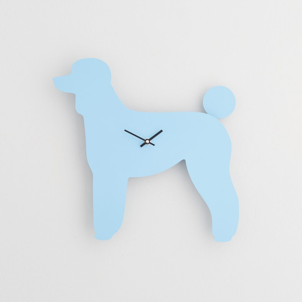 The Labrador Co.-Blue Poodle Clock with wagging tail - last one!