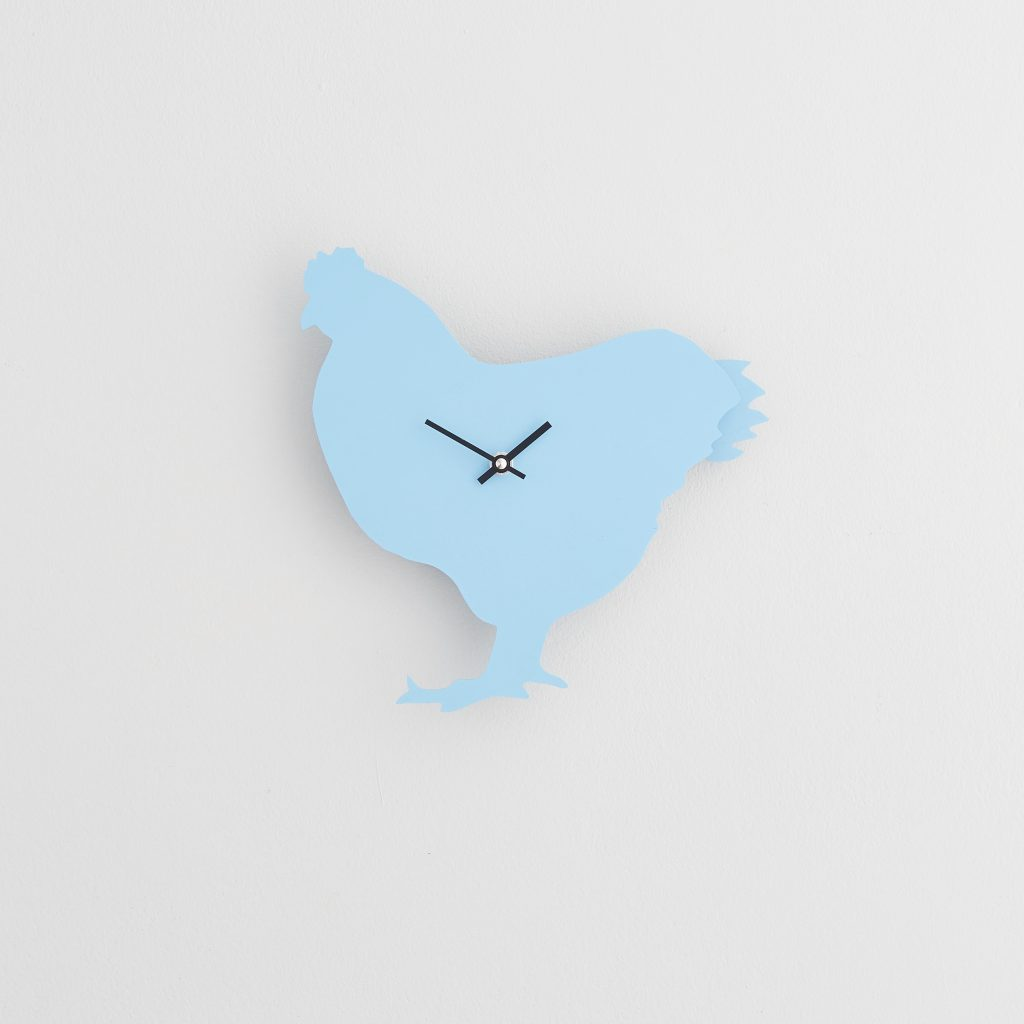 The Labrador Co.-Blue Chicken  Clock with wagging tail - last one!