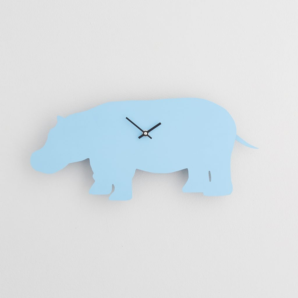 The Labrador Co.-Blue Hippo Clock with wagging tail - last one!