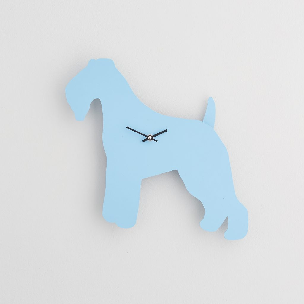 The Labrador Co.-Blue Fox Terrier Clock with wagging tail - last one!