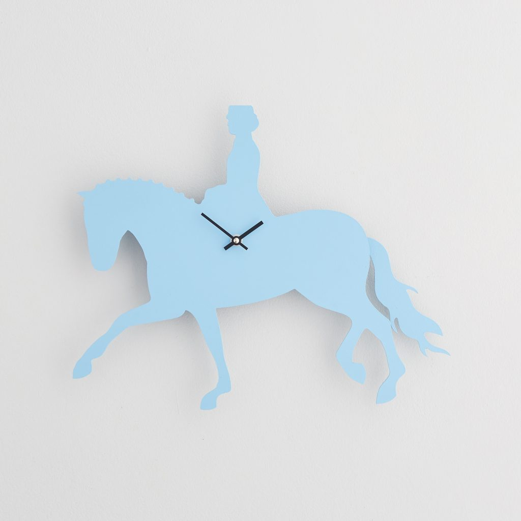 The Labrador Co.-Blue Dressage Clock with wagging tail - last one!