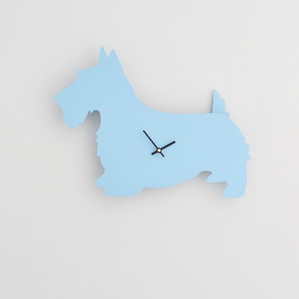 The Labrador Co.-Blue Scottie Clock with wagging tail - last one! (Copy) (Copy)