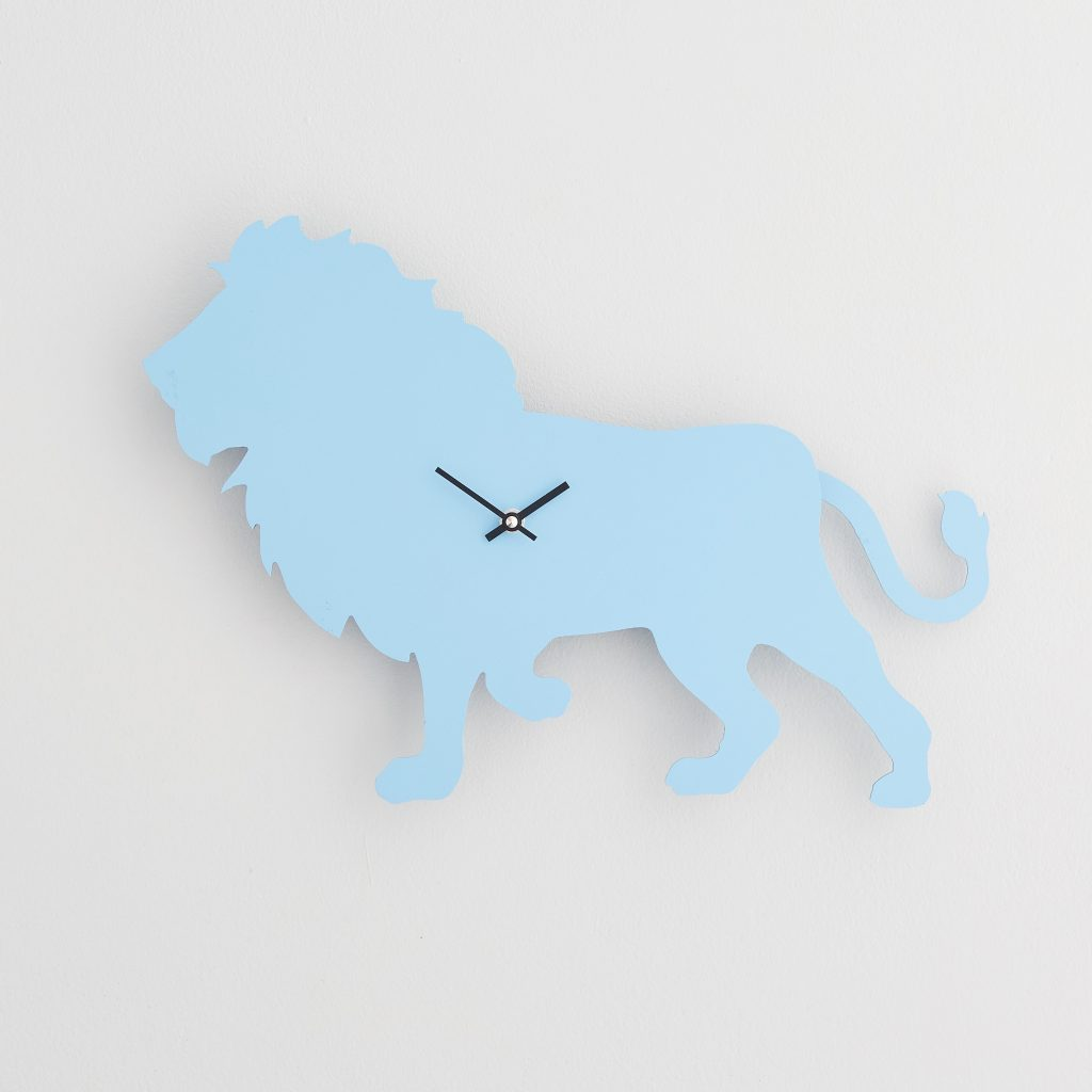 The Labrador Co.-Blue Lion Clock with wagging tail - last one!