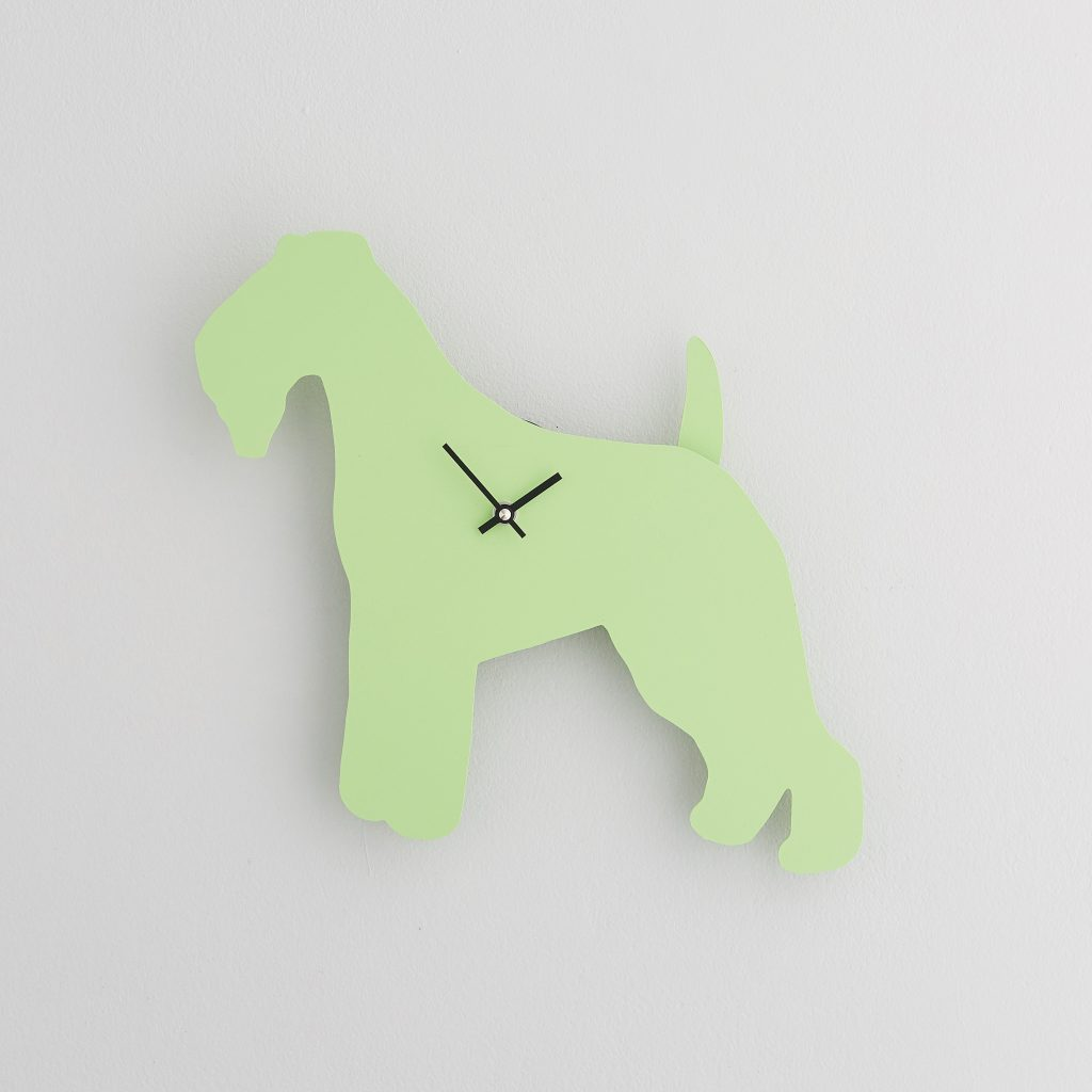 The Labrador Co.-Green Fox Terrier Clock with wagging tail - last one!