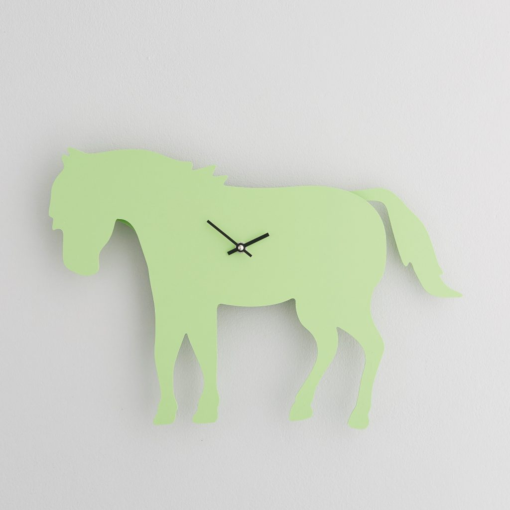 The Labrador Co.-Green Pony Clock with wagging tail - last one!