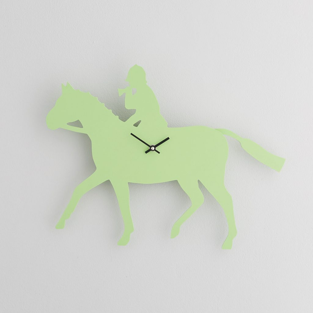 The Labrador Co.-Green Huntsman Clock with wagging tail - last one!