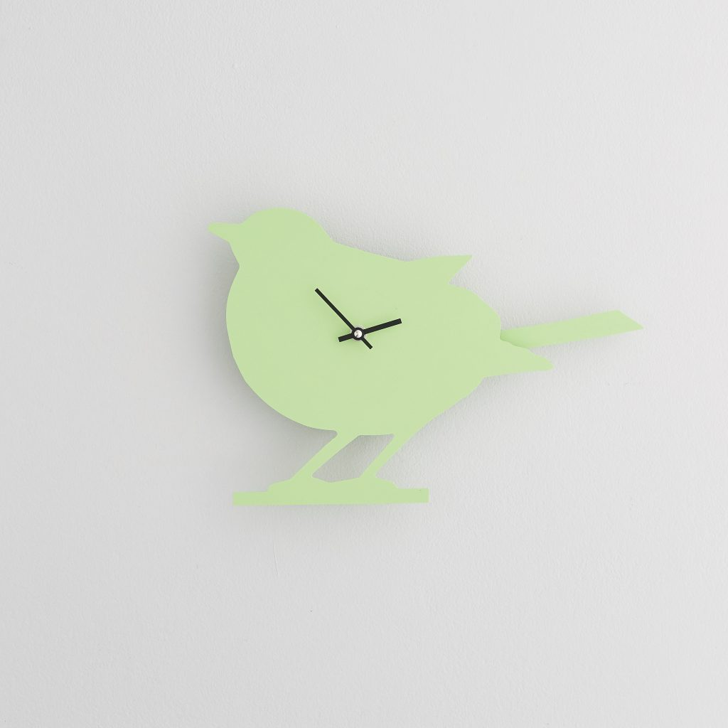 The Labrador Co.-Green Robin Clock with wagging tail - last one!