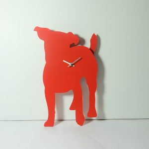 The Labrador Co.-Red Jack Russell Clock with wagging tail - last one!