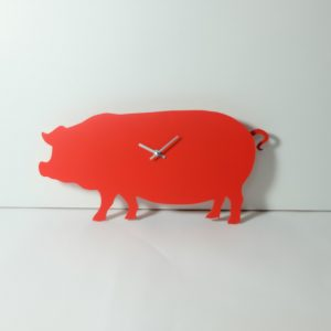 The Labrador Co.-Red pig clock with wagging tail - last one!