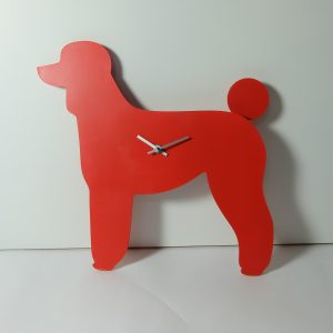 The Labrador Co.-Red Poodle Clock with wagging tail - last one!