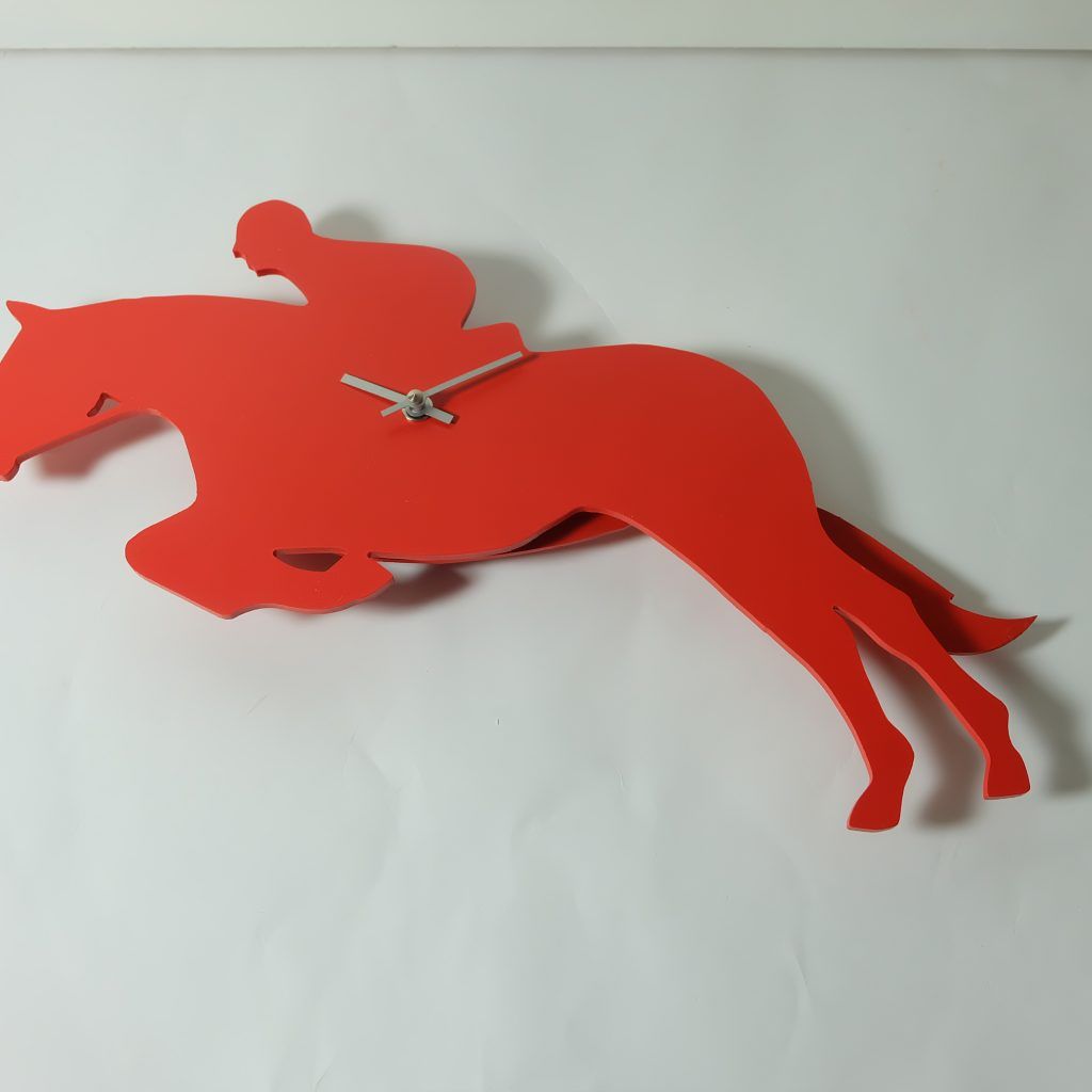 The Labrador Co.-Red Show Jumper Clock with wagging tail - last one!