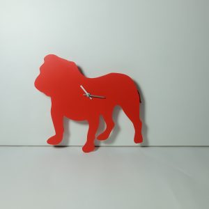 The Labrador Co.-Red Bulldog clock with wagging tail - last one!