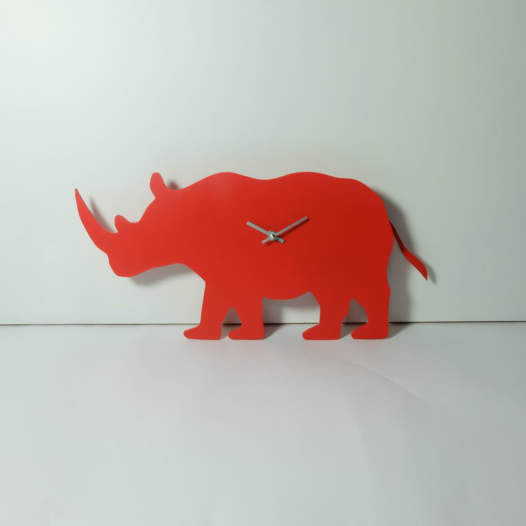 The Labrador Co.-Red Rhino Clock with wagging tail - last one!
