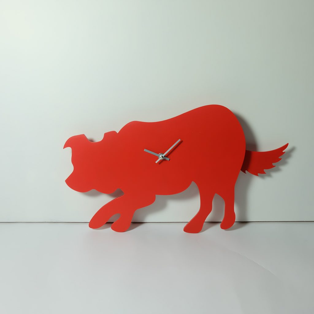 The Labrador Co.-Red Bearded Collie Clock with wagging tail - last one!